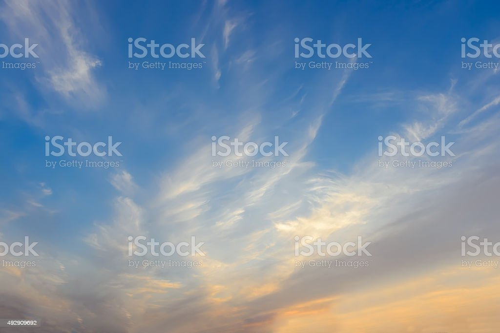 Colorful Sunset with multy stock photo