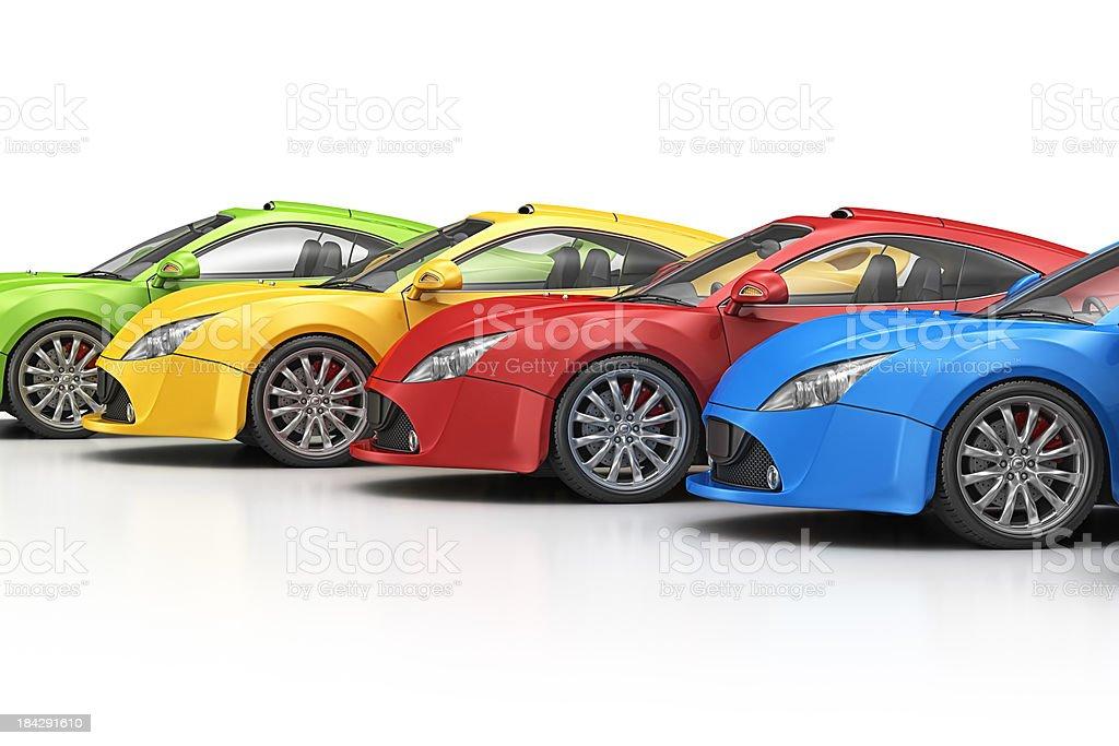 colorful supercar stock photo