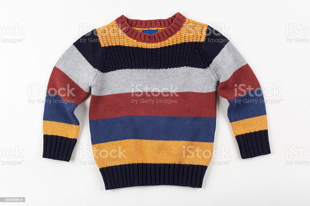 colorful sweater for children stock photo