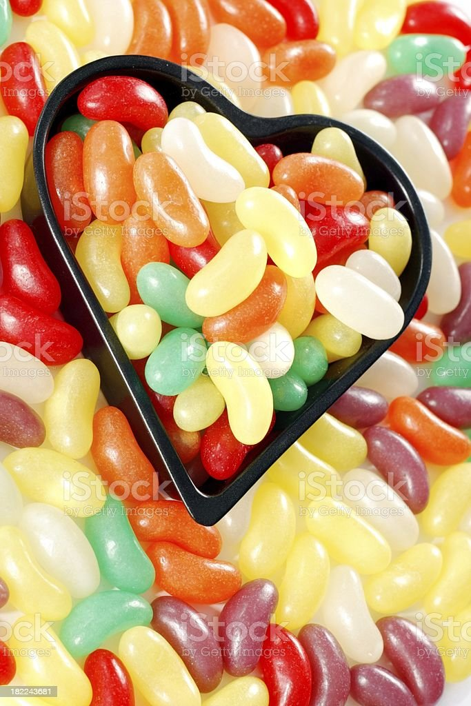 colorful sweets  in a heart royalty-free stock photo