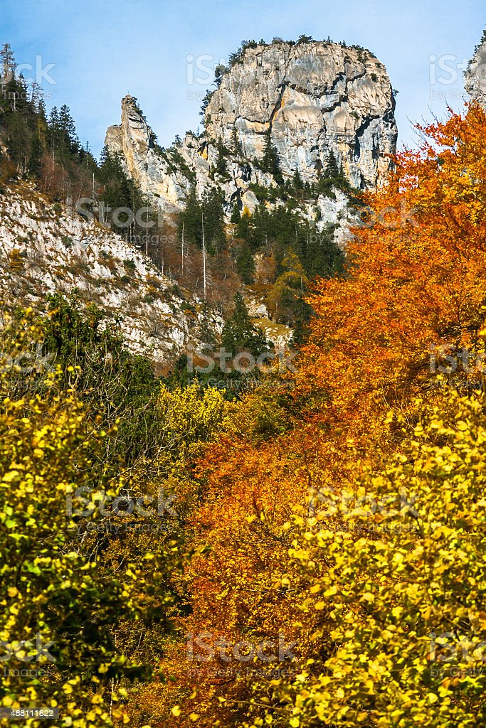 Colorful Swiss Alps stock photo