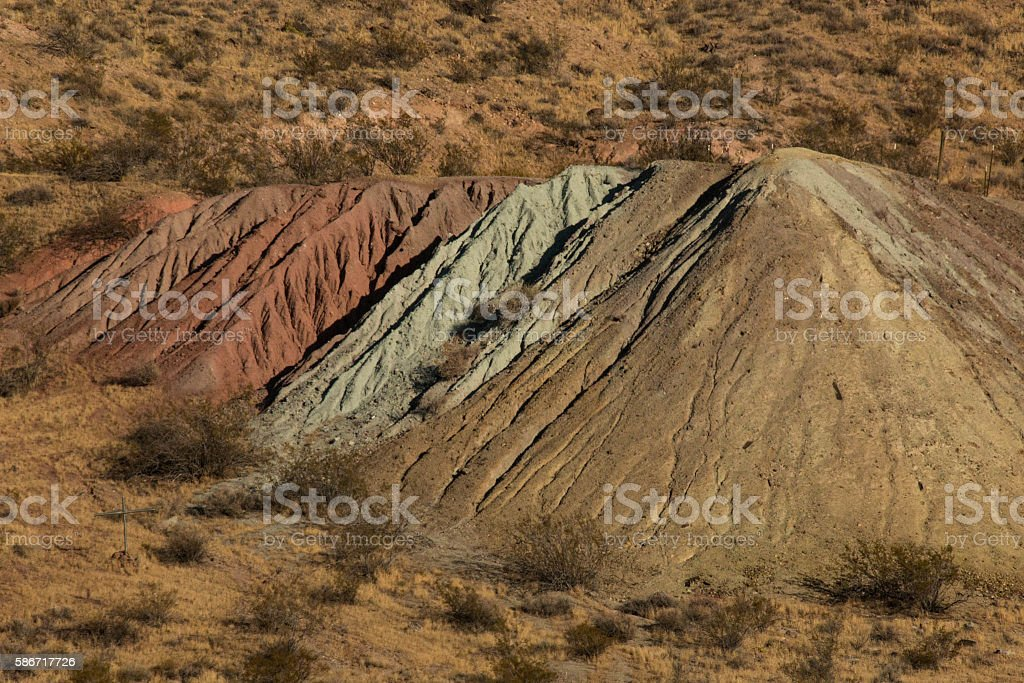 Colorful Tailings stock photo