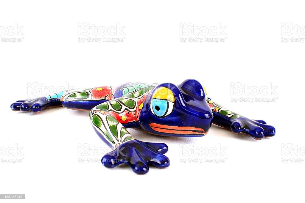 Colorful Talavera Frog stock photo