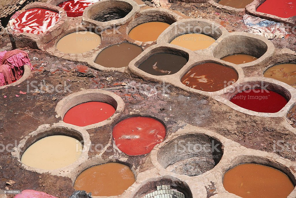 Colorful tanneries royalty-free stock photo
