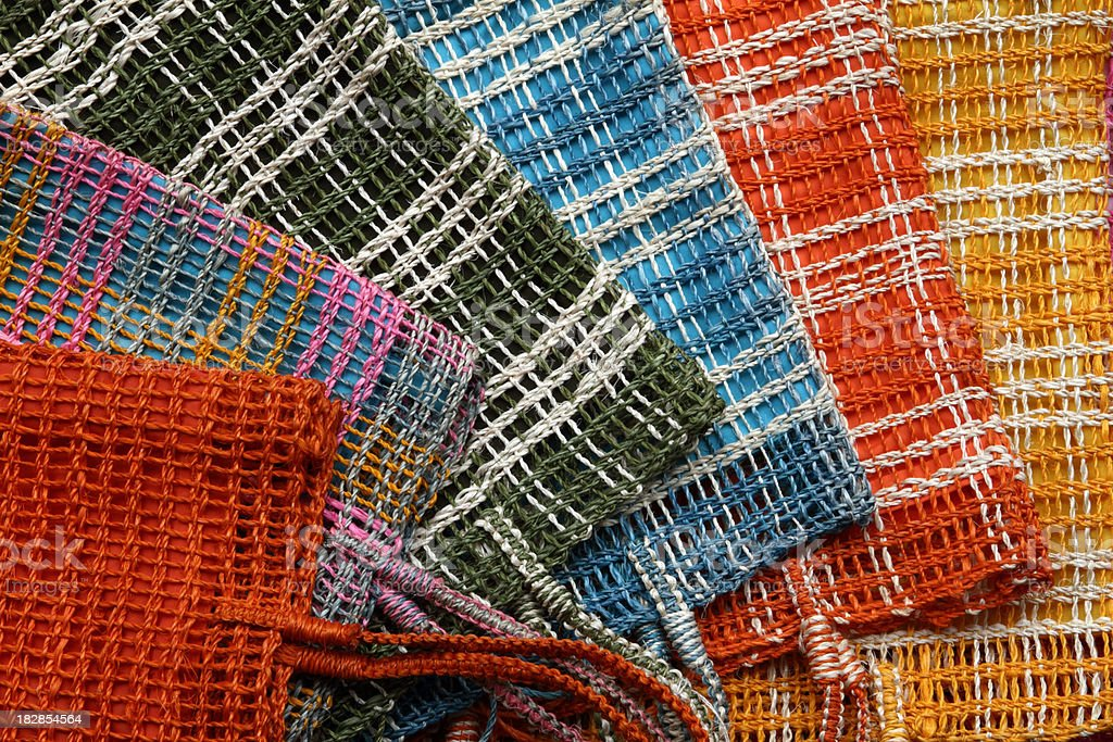 Colorful textiles stock photo
