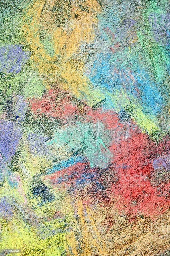 Colorful Textured Chalk Background stock photo