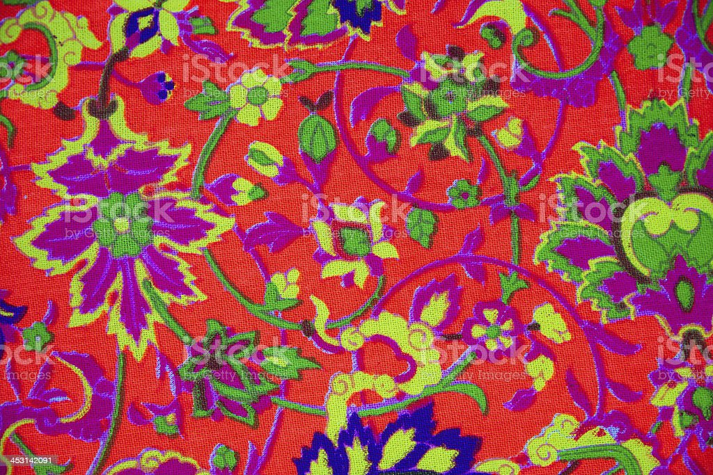 Colorful thai peruvian style rug surface close up. royalty-free stock photo