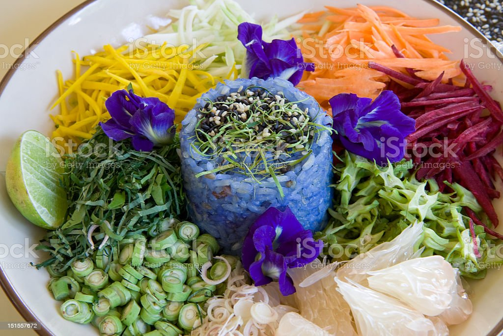 Colorful Thai Rice Salad royalty-free stock photo