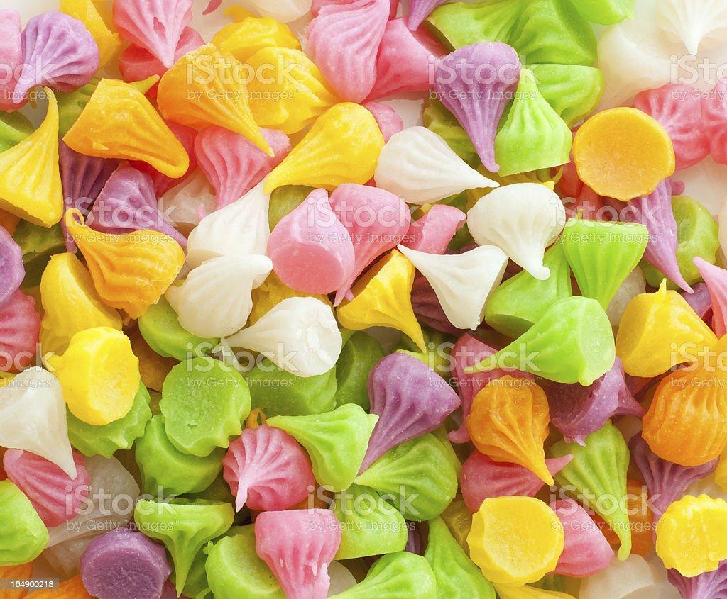 colorful thai style dessert royalty-free stock photo