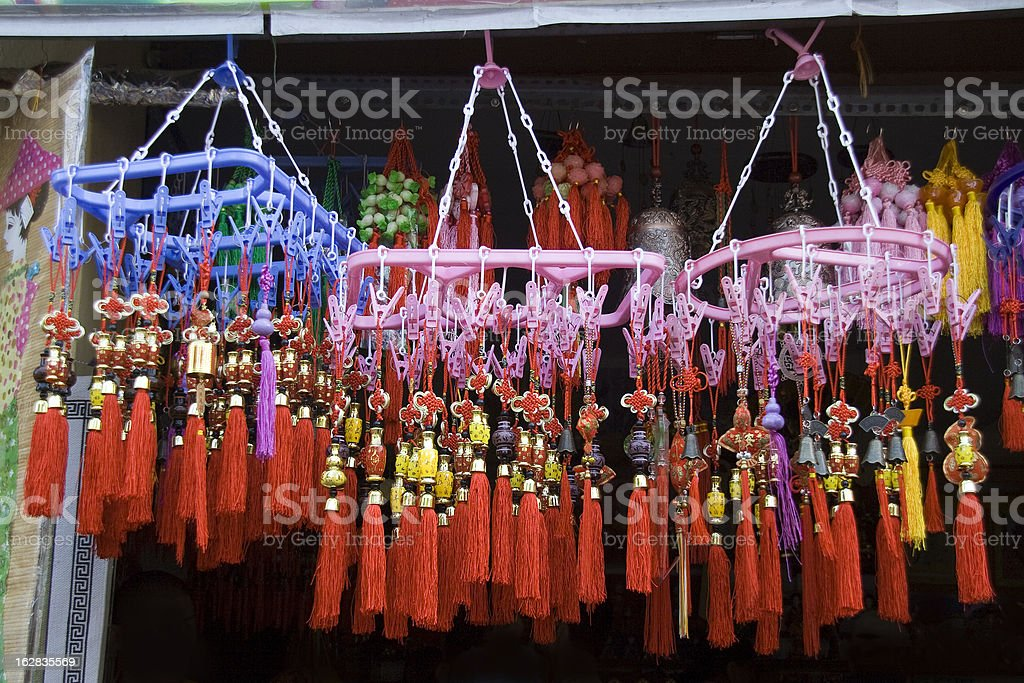 Colorful Thread Hangings royalty-free stock photo