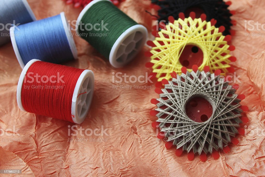 Colorful threads royalty-free stock photo