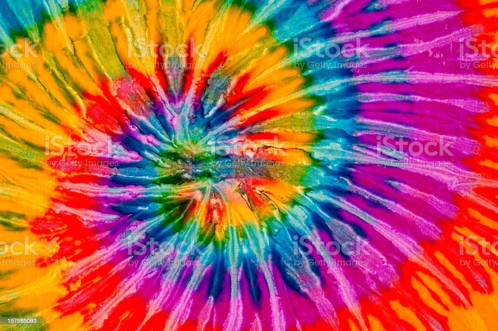Colorful tie dye swirl texture stock photo