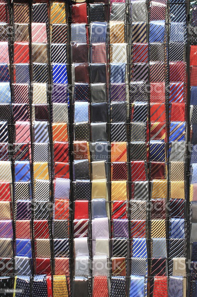 Colorful ties royalty-free stock photo