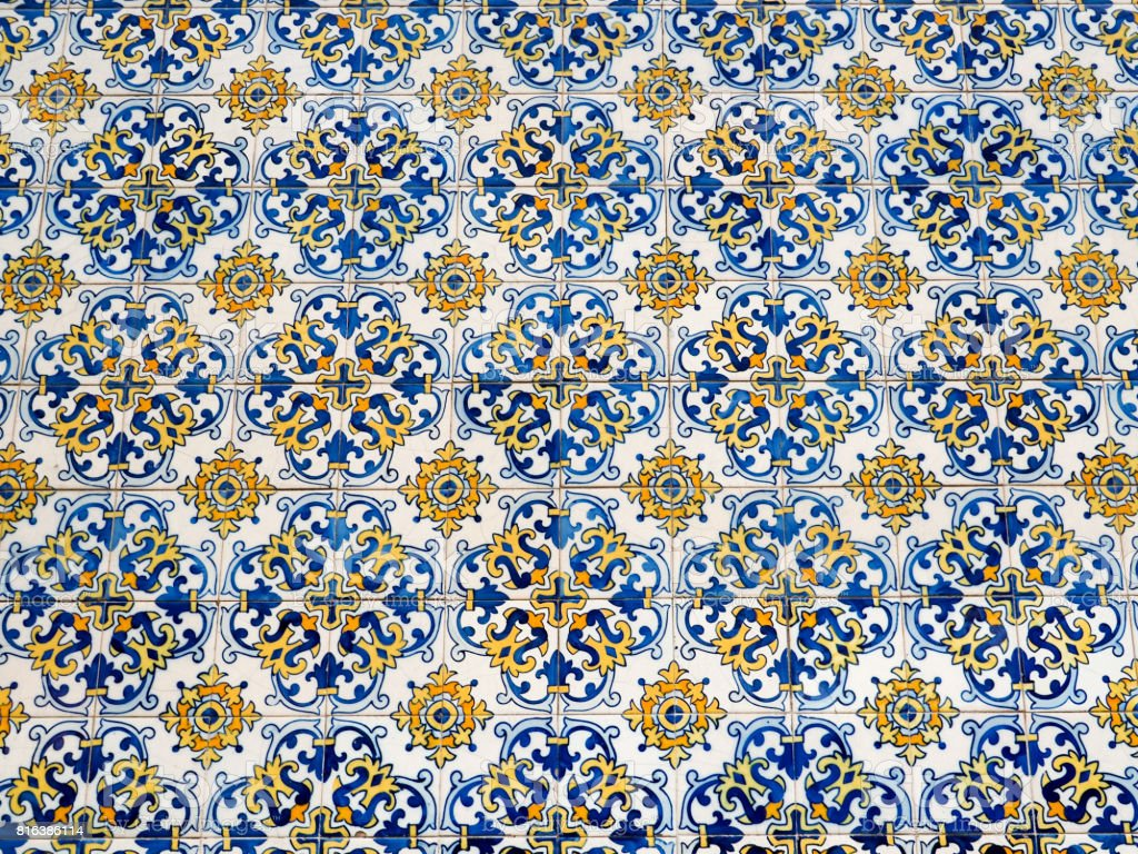 Colorful Tile pattern stock photo