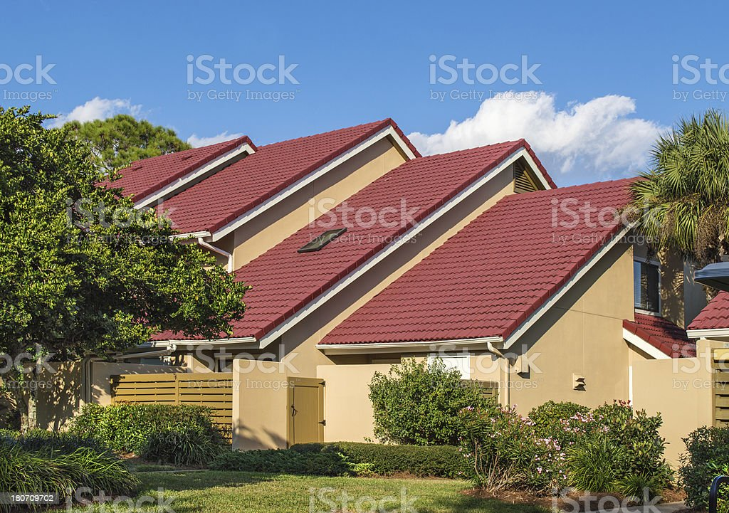 Colorful Tile Roofing royalty-free stock photo