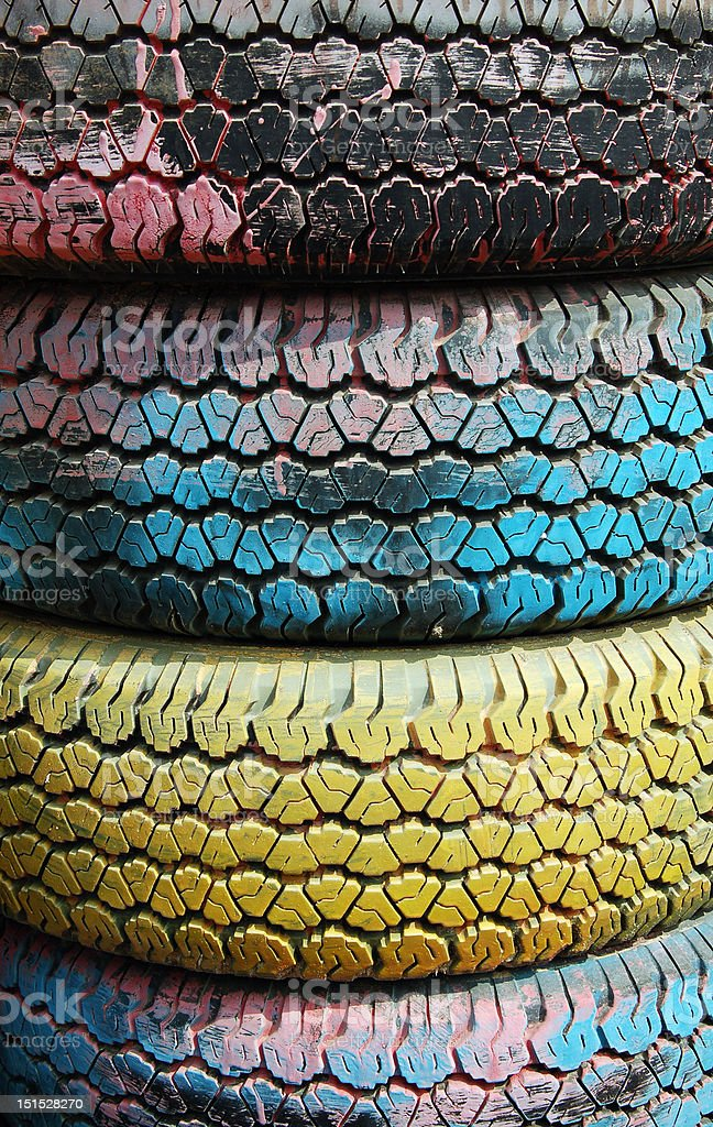 Colorful Tires royalty-free stock photo