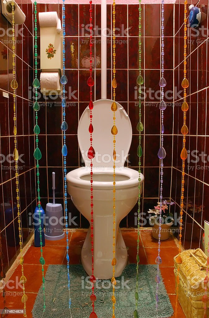 Colorful toilet stock photo