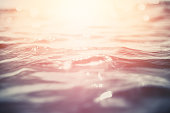 Colorful toned water surface background