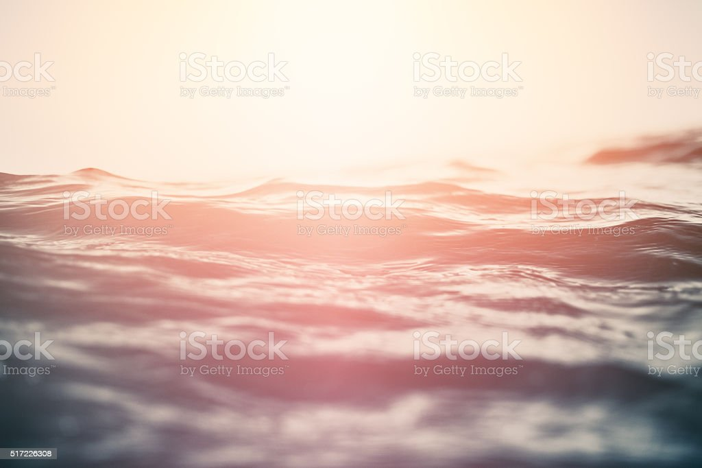 Colorful toned water surface background stock photo