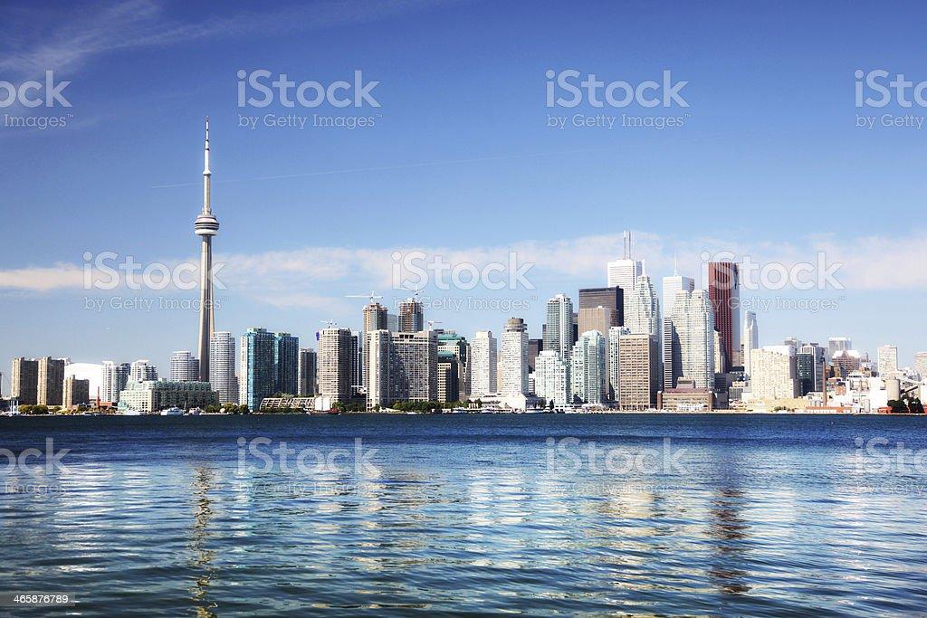 Colorful Toronto Summer Cityscape stock photo