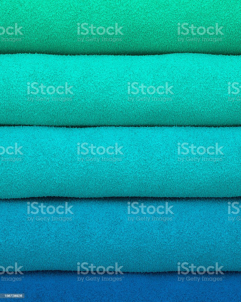Colorful towels stacked on each other royalty-free stock photo