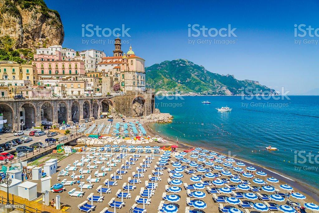 Colorful town of Atrani, Amalfi Clast, Campania, Italy stock photo