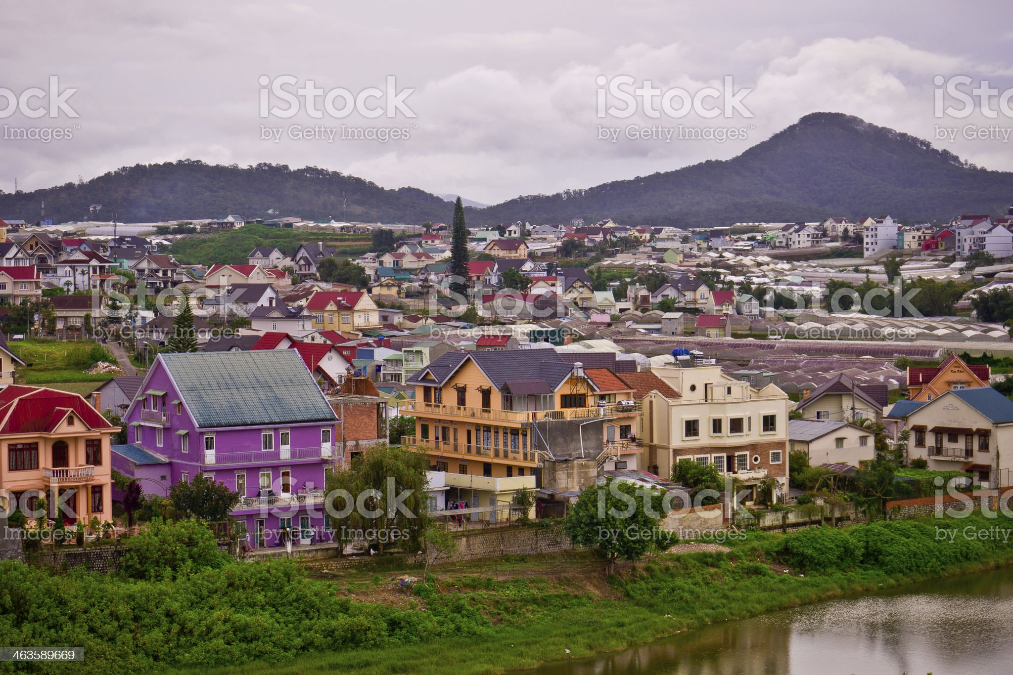 Colorful town of Dalat royalty-free stock photo