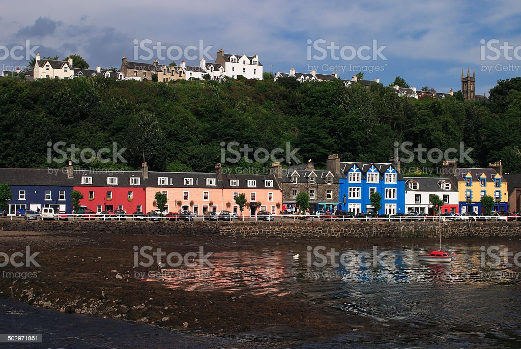 Colorful town of Tobermory, Mull, Scotland. stock photo