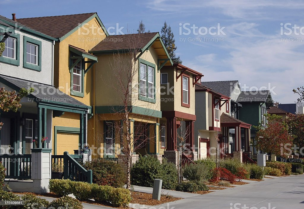 Colorful Townhomes royalty-free stock photo