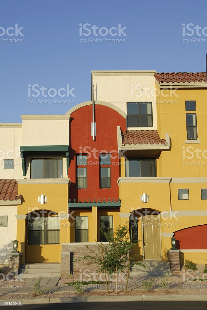 Colorful Townhouse royalty-free stock photo