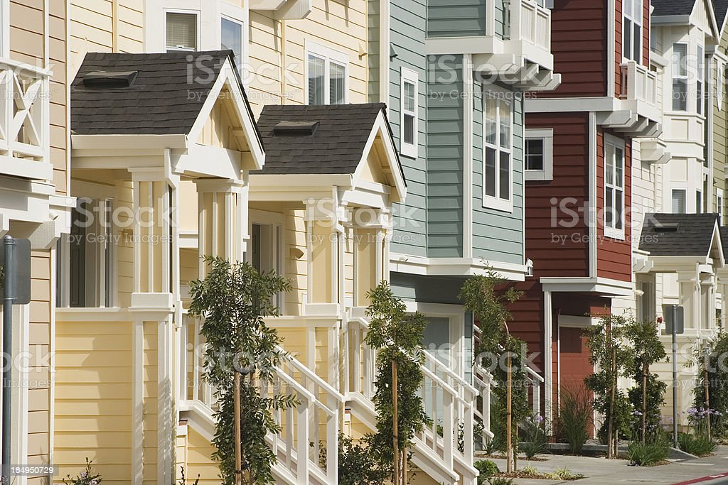 Colorful Townhouses stock photo