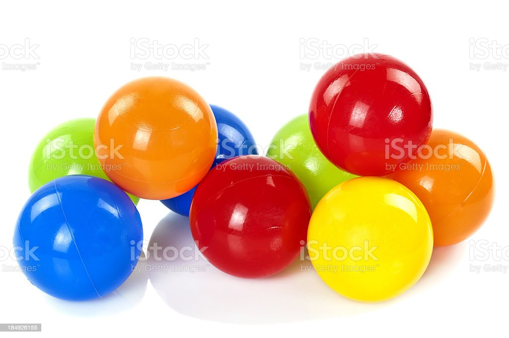 Colorful Toy Balls stock photo