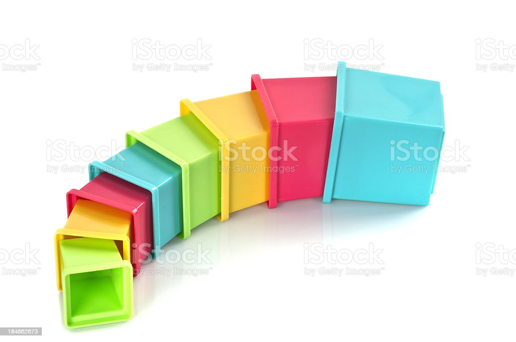 Colorful Toy Cubes royalty-free stock photo