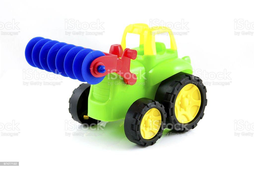 Jouet coloré Tracteur photo libre de droits