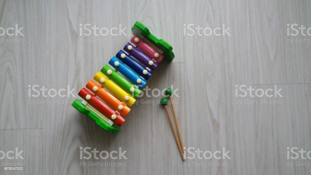 Colorful toy vibraphone stock photo