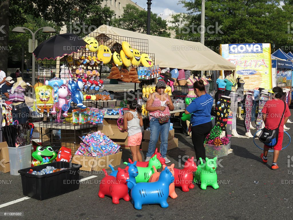 Colorful Toys at the Festival stock photo