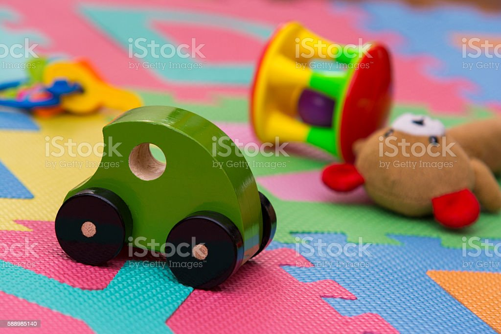 Colorful toys stock photo