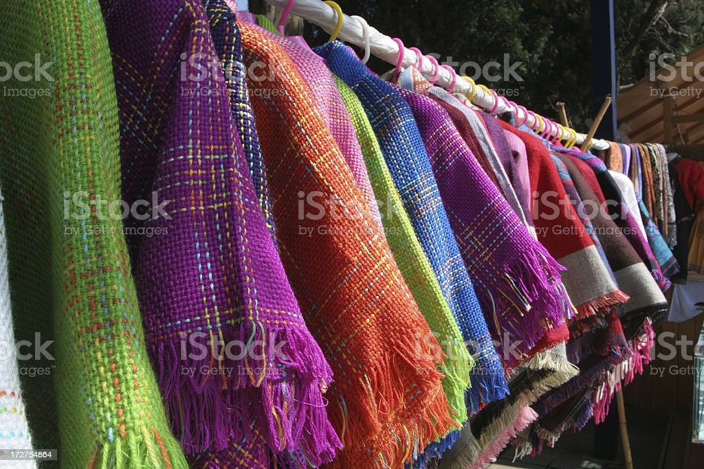 Colorful Traditional Chinese Clothing For Sale royalty-free stock photo
