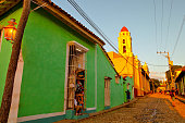 Colorful traditional houses in the colonial town of Trinidad, Cu
