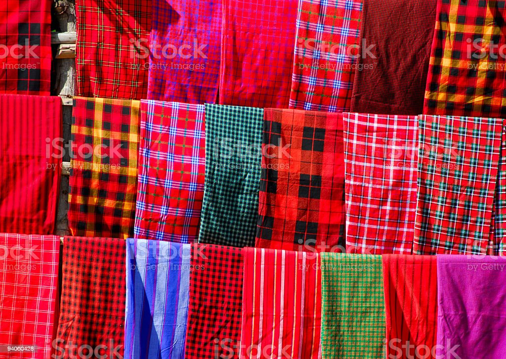 Colorful traditional Masai clothing background royalty-free stock photo