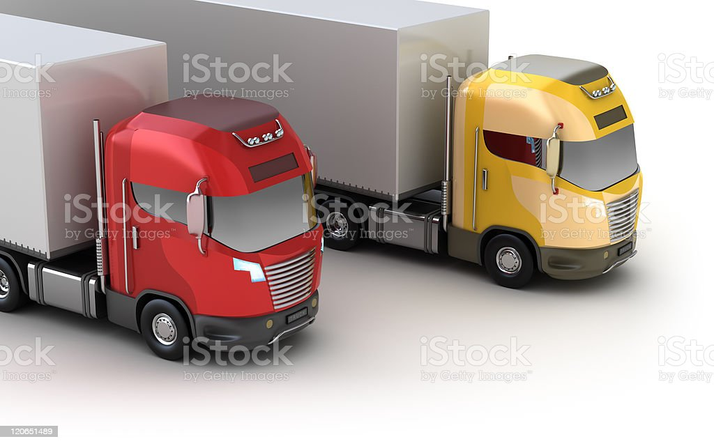 Colorful trucks royalty-free stock photo