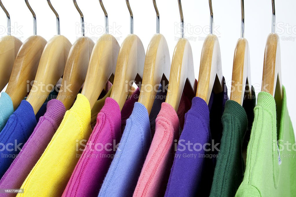 Colorful T-Shirts royalty-free stock photo