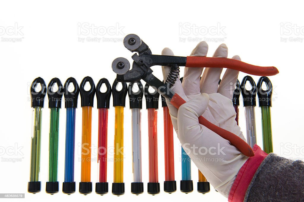 Colorful tubes stock photo