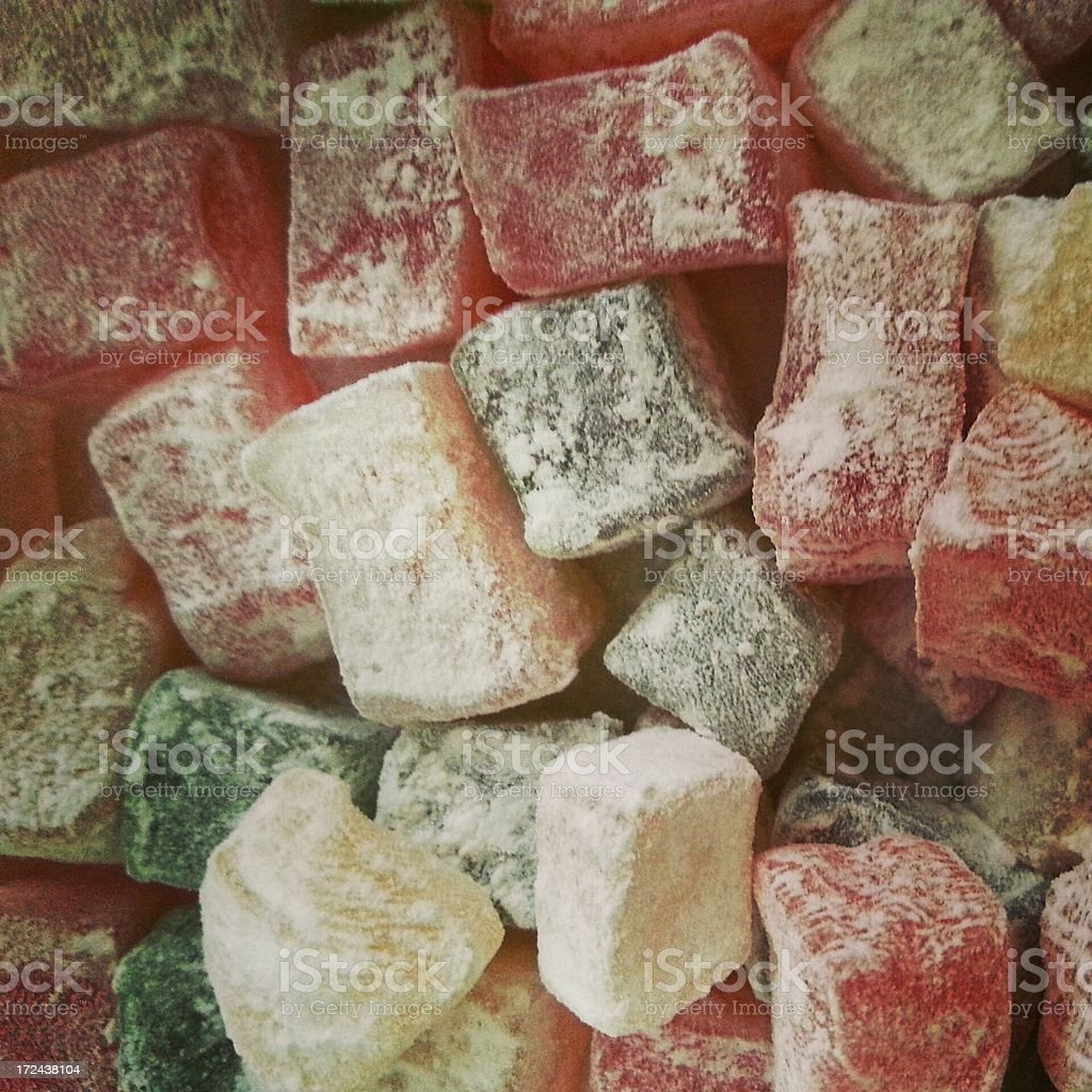 Colorful Turkish Delights royalty-free stock photo