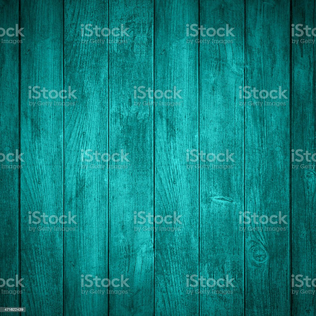 A colorful turquoise wooden background stock photo