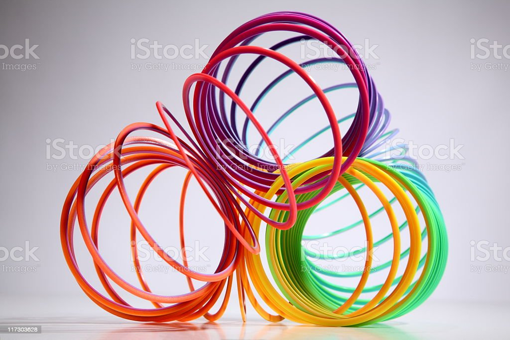 colorful twisted plastic coil royalty-free stock photo