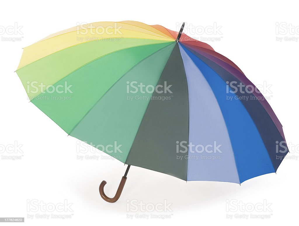 Colorful umbrella isolated on the white background royalty-free stock photo