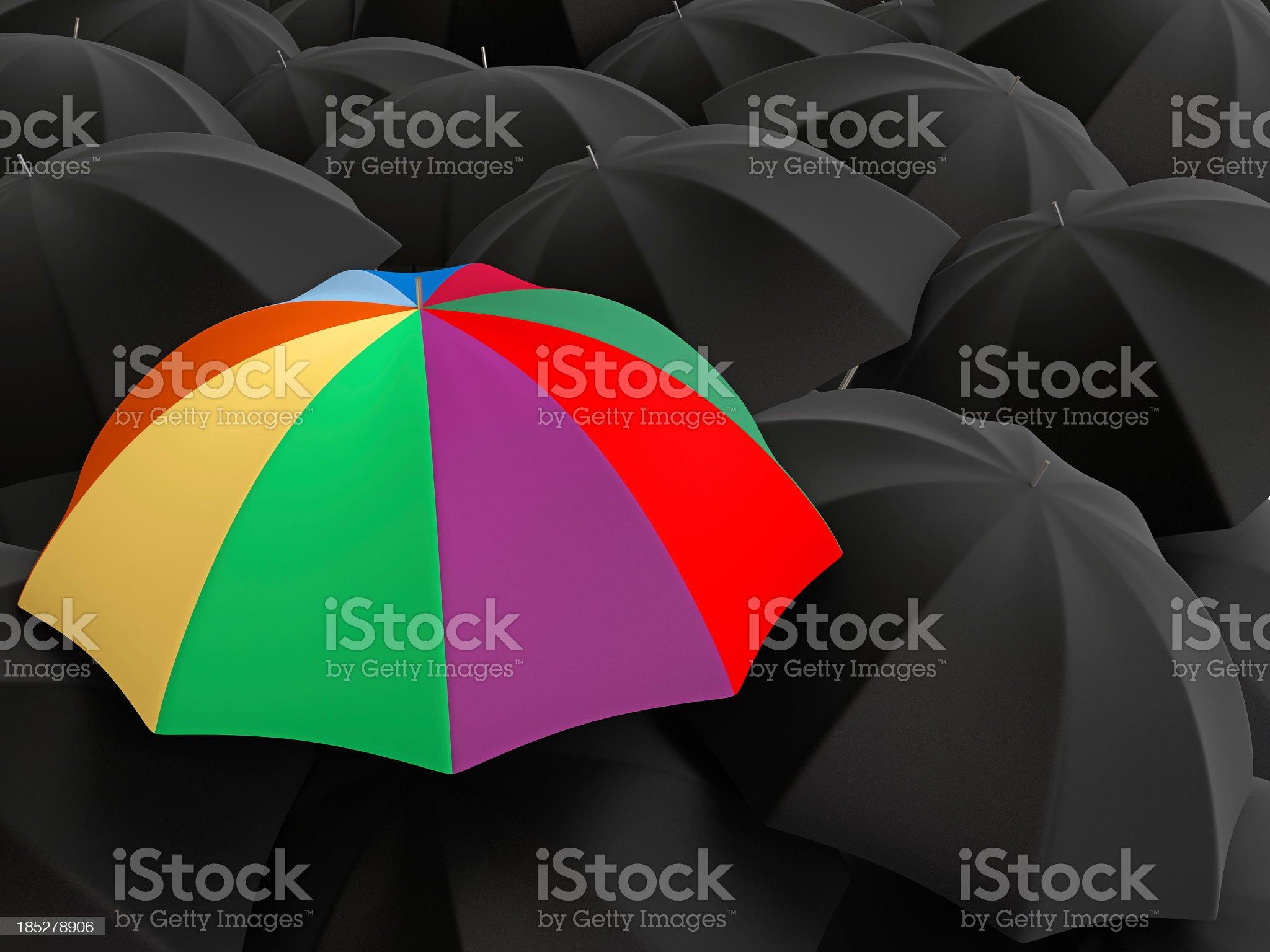 Colorful Umbrella royalty-free stock photo