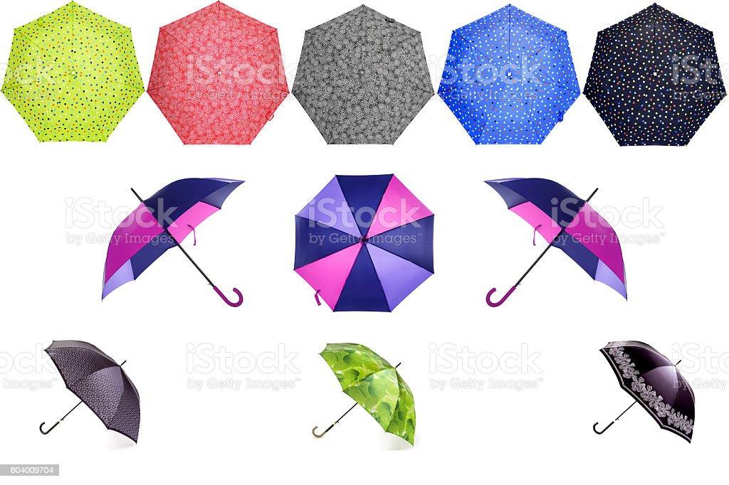 Colorful umbrellas stock photo