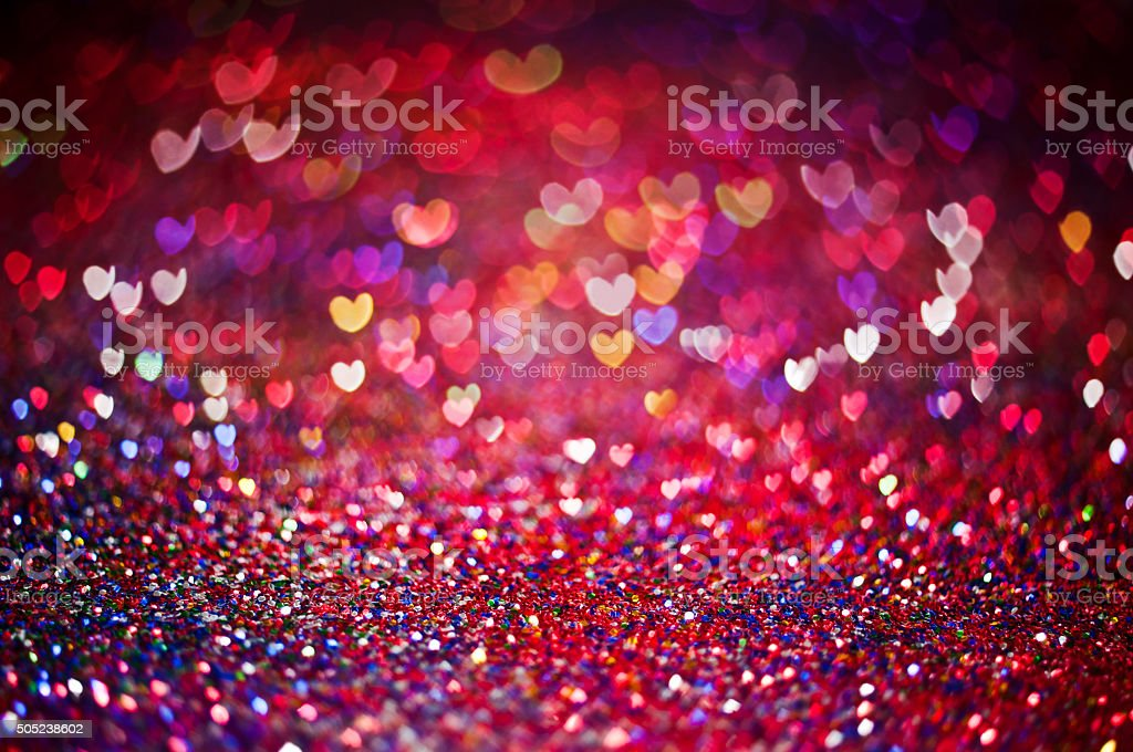 Colorful Valentine's Background stock photo
